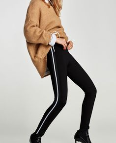 Image 2 of LEGGINGS WITH SIDE STRIPES from Zara