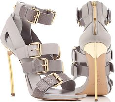 Prabal Gurung Open Toe Bootie in Grey