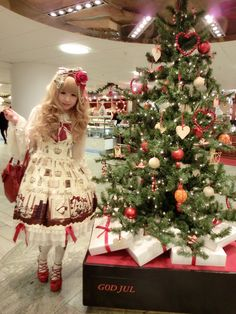 Christmas Lolita. Angelic Pretty Victorian letter.