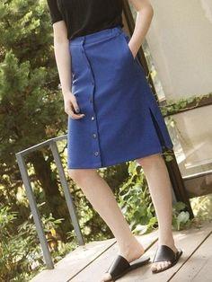 Noir Button Down Skirt