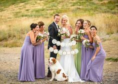 Romantic & rustic bouquet in soft violet, light green, pink blush and butter yellow with roses & succulents by Visual Impact Design | Wedding & Special Event Flowers | Blue Lotus Photography