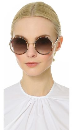 Round unisex shape sunglasses Sunday Somewhere Yetti 037 - metal with brown lens #sundaysomewheresunglasses #sundaysomewhere ##sunglasses2016 #sunglasses #roundsunglasses