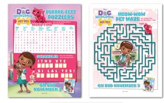 One and done or choose all five of these Doc McStuffins free printable activities.