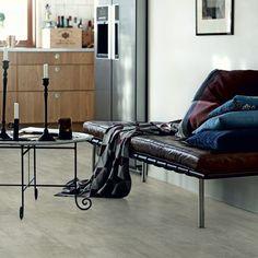 Pergo Premium Click Vinyl Wooden Flooring per pack) - Light Grey Travertin Types Of Wood Flooring, Solid Wood Flooring, Stone Flooring, Vinyl Flooring, Italian Tiles, Tile Manufacturers, Vinyl Tiles, Barcelona Chair, Tile Design
