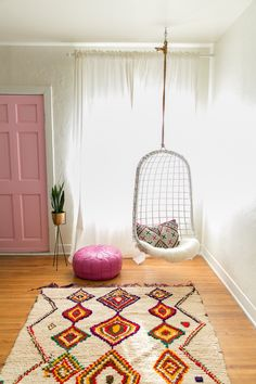 pink + vintage moroccan berber rug from the atlas mountains #azilal #boucherite #cococarpets