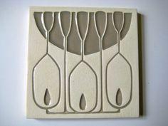 schöne Jugendstil Fliese  Art Nouveau Tile Tegel  Carreau Kachel