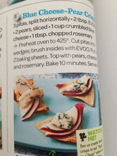 Blue cheese pear crisps- everyday magazine