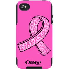 """I <3 Otterbox!!   Pink iPhone 4 Case, Commuter Series Strength // OtterBox.com  When you purchase the OtterBox Commuter Series """"Strength"""" case for iPhone 4 / 4S, 10% of the purchase price will be donated to the Avon Breast Cancer Crusade. Funding will support finding a cure for breast cancer and advancing access to care for all, regardless of ability to pay."""