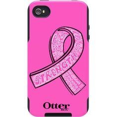 pink ribbon phone case