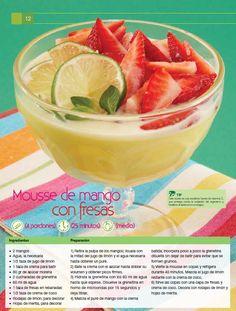 Mousse de mango con fresas, una deliciosa y saludable receta para cocinar con los niños y consentir naturalmente a la familia.