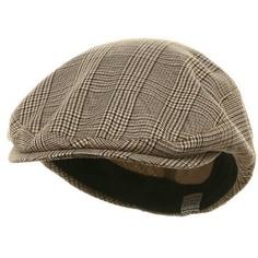 Big Size Elastic Plaid Fashion Ivy Cap - Beige W07S39D $19.99