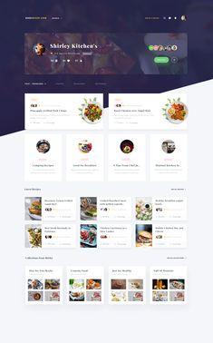 Exploration Recipe Profile Page | #ui #ux #userexperience #website #webdesign #design #minimal #minimalism #art #white #orange #blue #travel #map #ecommerce #fashion