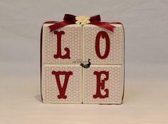 Valentines Gift Valentines Day GiftLOVE Wood by tnotions on Etsy #craftshout0123 #valentines #woodblocks #love