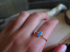 Silver dipped in gold Opal stacking ring  $ 28