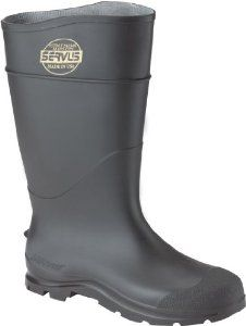 CLC Rain Wear R23010 Over The Sock Black PVC Rain Boot, Size 10 by CLC Rain Wear. $16.29. From the Manufacturer                Black PVC Boot.                                    Product Description                A long list of advanced comfort features balanced with an economic price tag, CT (Comfort Technology) offers a unique scalloped top-line design to accommodate fl exing in the calf area to reduce irritation as well as graduated boot heights that are consiste...