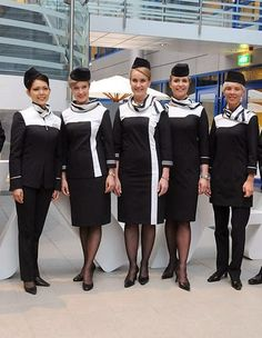 World stewardess Crews: Finnair new flight attendant uniform