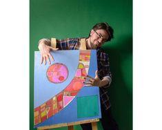Border - Squares, Circles, Cells Abstract (Painting No.