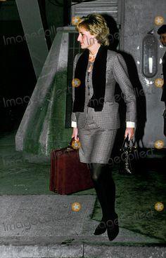 12 Dec 1995 Princess Diana Return's From New York Photo By:dave Chancellor-alpha-Globe Photos, Inc