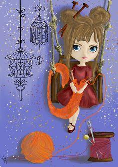 kniting doll