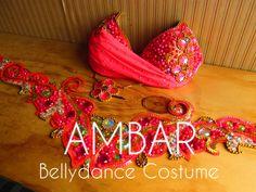 Pink Flúor Bellydance Costume