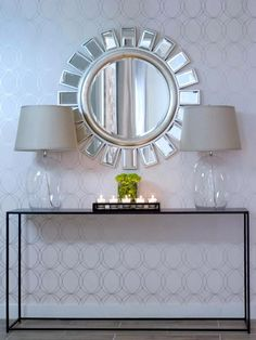 Lamps & mirror