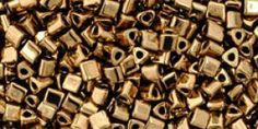 11/0 Metallic Bronze Toho Triangle Seed Beads