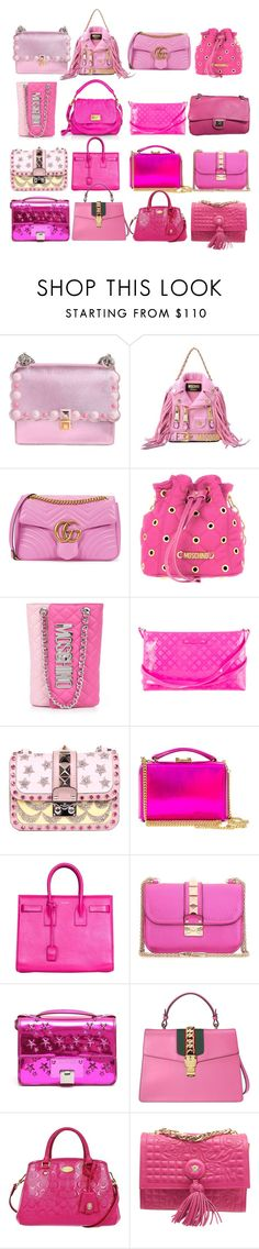 """Pink Handbags"" by sofi6277 on Polyvore featuring moda, Fendi, Moschino, Gucci, Kate Spade, Valentino, Mark Cross, Yves Saint Laurent, Jimmy Choo y Coach"
