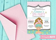 SO CUTE! Girl's Spa Birthday Party - Tween Party Ideas - Girl Birthday decorations - pajamas and pedicures party - pampering - slumber party - sleep mask - bachelorette party