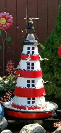 Lighthouse with seagulls I made for my sister's birthday.