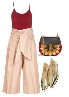 """Untitled #894"" by gabbyriera on Polyvore featuring Chloé, Topshop and MSGM"