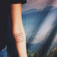 hnnhmk:  2 Corinthians 3:17 #tattoo #vsco