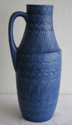Beautiful SCHEURICH Floor Vase FAT LAVA German by GalerieMollari