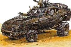 "This Early Concept Art For ""Mad Max: Fury Road"" Is Incredible"