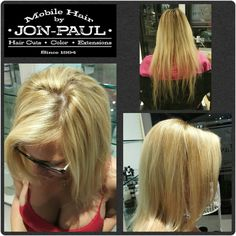Before and after 22inch and 18inch babe tape in extensions hair hair extensions removed and hair colored pmusecretfo Images