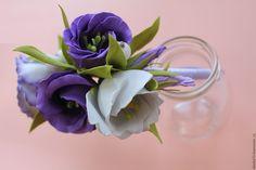 Купить Ободок с Эустомой из фоамирана - сиреневый, ободок для волос, ободок с цветами, ободок для девочки