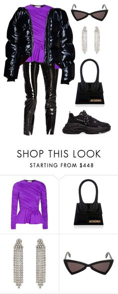 """Untitled #1936"" by lucyshenton ❤ liked on Polyvore featuring Balenciaga and Yves Saint Laurent"