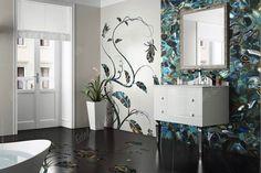 Achat gruener agate green badezimmer WANDVERKLEIDUNG Waschbecken