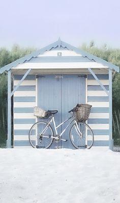 ❤little blue & white beach hut❤