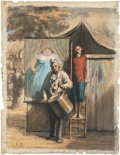Honoré Daumier   The Sideshow (La Parade)   The Met
