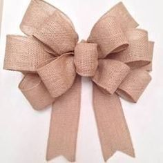 Best 11 This bow is created with 5 wide wired burlap ribbon. Great for the wreaths, swags, garlands and more. This bow is 12 wide, streamers are 11 long. If you are looking for a custom bow we will work together with you to create the perfect bow, I will Burlap Ribbon, Diy Ribbon, Ribbon Flower, Fabric Flowers, Diy Wreath, Burlap Wreath, Wreath Bows, White Wreath, Pew Bows