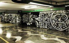 estaciones-del-metro-creativas-ciudad-de-mexico Artistic Installation, Metro Station, Mexican Art, Street Art Graffiti, Chicano, Art Photography, Sculptures, Artsy, Wall Art