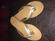 """Diana Warner """"Gibby"""" Sandal in silver and gold"""