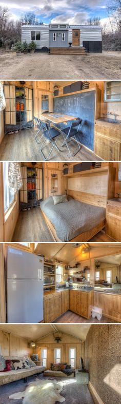 The Lewis and Clark: a tiny house retreat available for rent in the small, mountain town of Hamilton, Montana