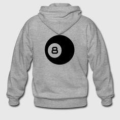 Billard schwarze Acht Sportbekleidung - Männer Premium Kapuzenjacke