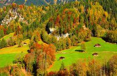 Lauterbrunnen by kitty bern - Lauterbrunnen is a municipality in the Interlaken-Oberhasli administrative district in the canton of Bern in Switzerland. Bern, Austria, Switzerland, Golf Courses, Kitty, Places, Seasons, Autumn, Cuddle Cat
