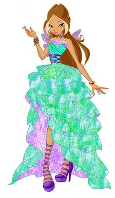 Флора Винкс бальные платья принцесс 6 сезон