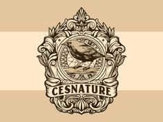 Cesnature vintage logo designed by Ary_ngeblur. Connect with them on Dribbble; Skull Logo, Vintage Logo Design, Logo Google, Silver Spring, San Luis Obispo, Mystic, Logos, Google Search, Nice