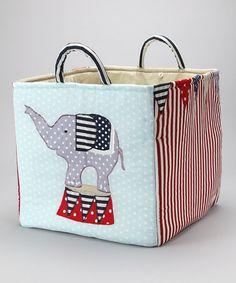 Loving this Blue Elephant Toy Bag on #zulily! #zulilyfinds