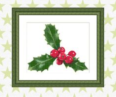 Holly Berry Cross Stitch pattern Instant Download Xmas | Etsy Xmas Cross Stitch, Cross Stitch Patterns, Holly Berries, Dmc Floss, Berry, Christmas Decorations, How Are You Feeling, Holiday, Prints