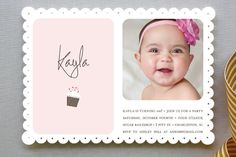 Sweetly Sprinkled Childrens Birthday Party Invitations